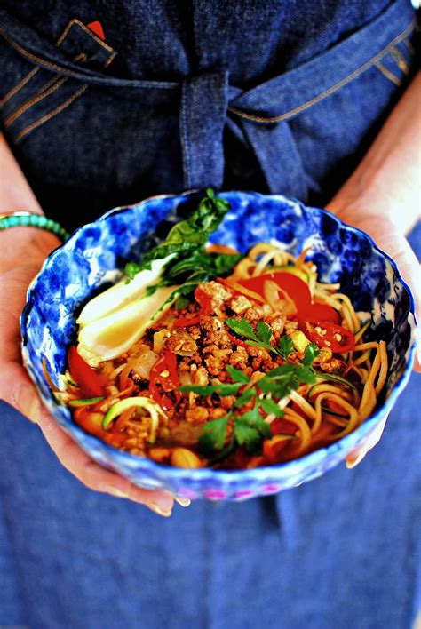 new year vegetarian noodles spicy tofu and vegetable dan dan noodles for new