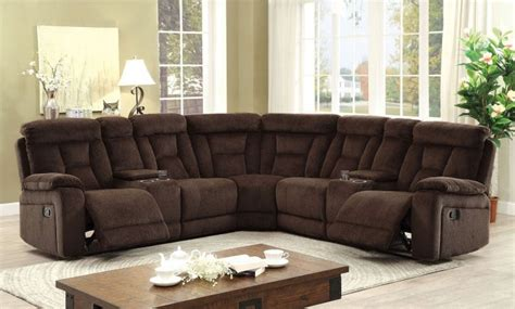 Furniture Deals Sectionals Maybell Transitional Brown Fabric Sectional Living Rooms