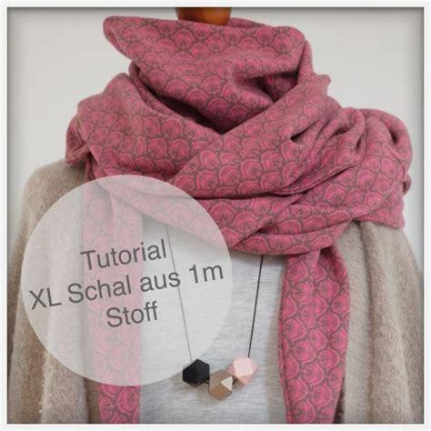 Tutorial Xl | tutorial einen xl schal aus 1 m stoff n 228 hen unter meinem