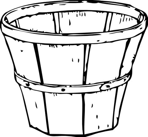 apple barrel coloring pages picture of bucket cliparts co