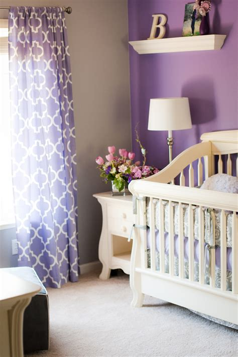 s purple and gray nursery project nursery