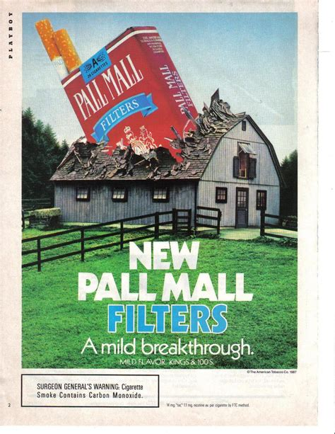 pall mall colors pall mall 1987 original color page print ad a mild
