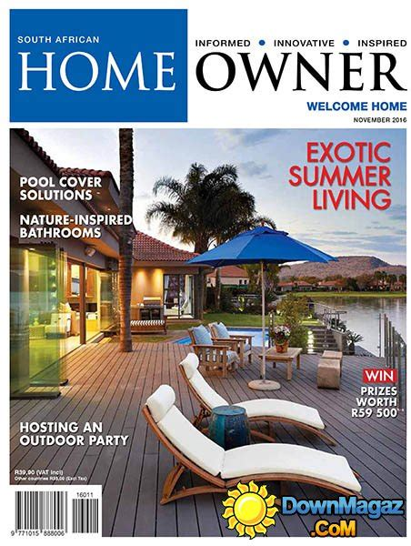 home design magazines south africa south african home owner november 2016 187 download pdf