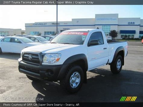 2007 Toyota Tacoma Regular Cab White 2007 Toyota Tacoma Regular Cab 4x4