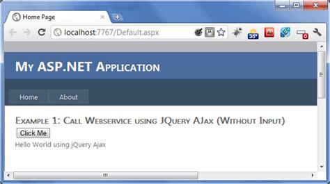 tutorial jquery ajax asp net jquery ajax exles by calling asp net webservice asp