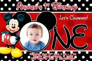 free mickey mouse clubhouse 1st birthday invitations
