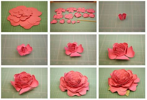 paper camellia flower tutorial bits of paper 3d calendula camellia and sweet pea paper