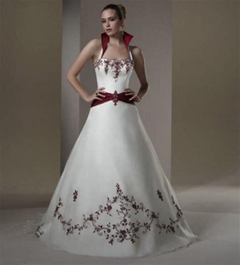 imagenes de vestidos de novia con detalles rojos vestidos de novia rojos con blanco