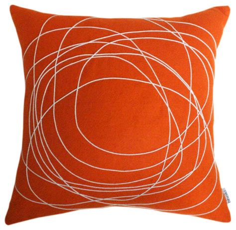 throw pillows for cream couch bholu nimboo orange cream pillow modern decorative