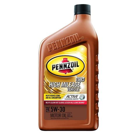 Most High Milage Motor 5w 30 Detox by Pennzoil 5w 30 High Mileage Vehicle Motor With Active