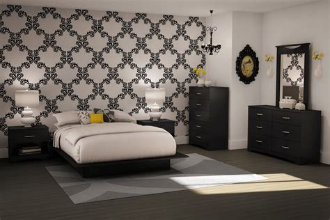 bedroom wallpapers black and white bedrooms a symbol of comfort that is elegant