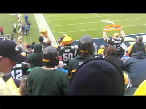 san diego chargers chant green bay packers vs san diego chargers 2011 go pack go
