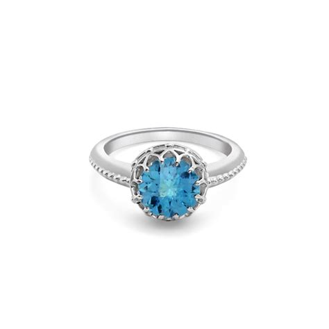 white gold blue topaz ring road jewellery