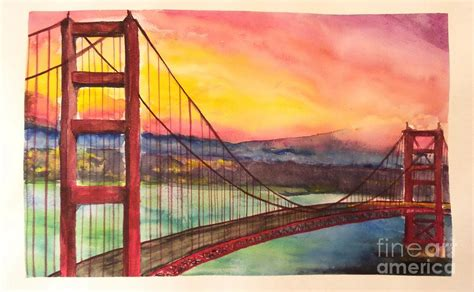 golden gate bridge painting by moqing si
