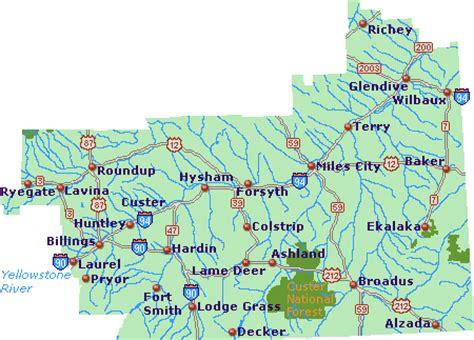 southeast montana map go northwest! a travel guide