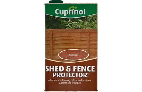 Cuprinol Shed And Fence Preserver Golden Brown cuprinol shed fence protector golden brown 5 litre