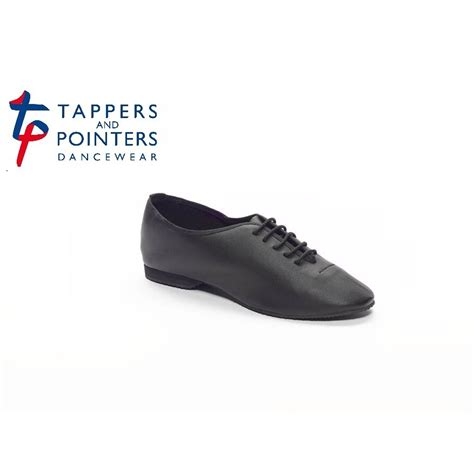 black leather rubber soled jazz shoes dancewear