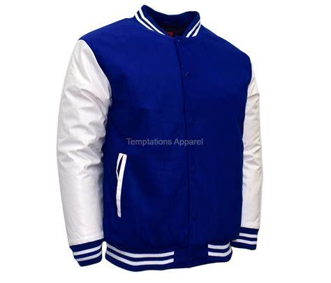 Original Moutley Twotone Bomber Jacket Blue maximos s blue white two tone baseball letterman varsity bomber jacket max8b ebay