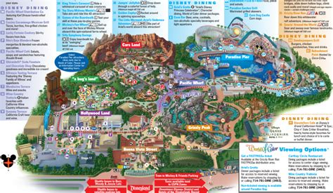 disney california adventure map 8 differences between disneyland and disney s california adventure