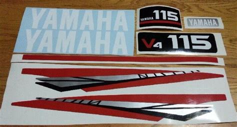 yamaha outboard motor decals for sale yamaha v4 115 hp outboard motor cowl decals stickers