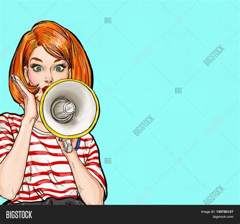 Powerpoint Template Pop Art Girl With Megaphone Bdzxyabcx Pop Powerpoint Template