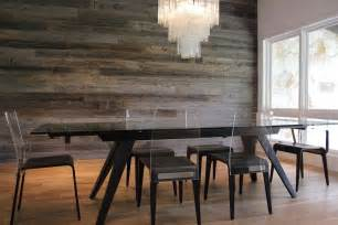 The Modern Dining Room by 10 Exquisite Ways To Incorporate Reclaimed Wood Into Your