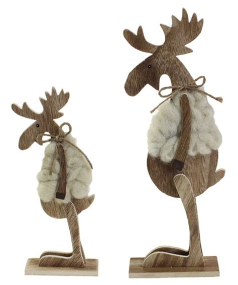 Weihnachtsdeko Fenster Tedi by Deko Elch Wolle Holz Stehend 32 Cm