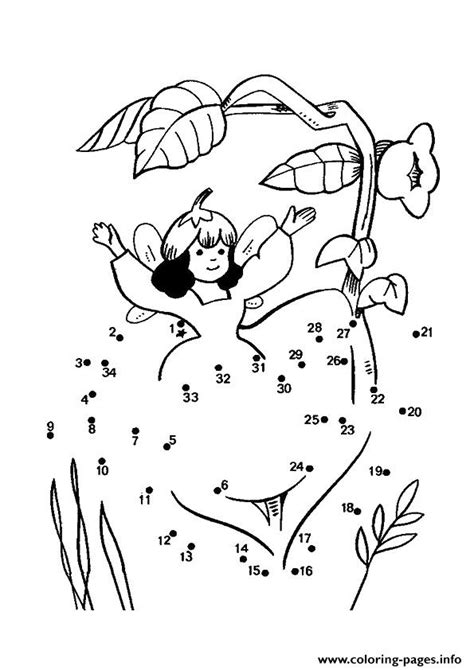 The Little Fairy Dot To Dot Coloring Pages Printable
