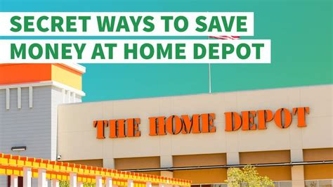 secret ways to save money at home depot gobankingrates