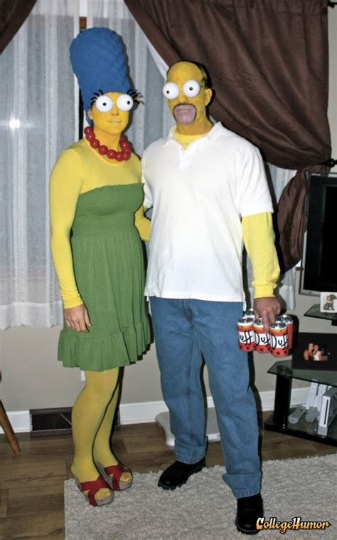 marge homer simpson fancy dress couple halloween