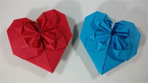 san origami como hacer corazones de papel en origami para san valentin