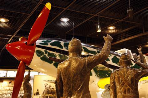 battle of okinawa museum display japanese girl s wwii job waving goodbye to kamikaze