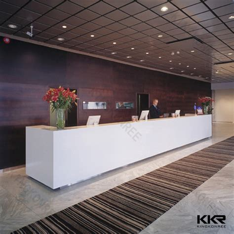 Marble Reception Desk Artificial Marble Modern 5 Hotel Reception Desk Size Buy Artificial Reception