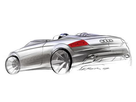 sketch book a3 2007 audi tt clubsport quattro study drawing rear and
