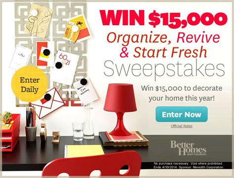 Hgtv 25 000 Sweepstakes 2014 - home and garden sweepstakes entry ask a pro outdoor sweepstakes bhg wintropics