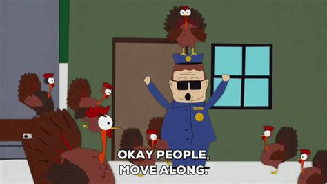 Officer Barbrady Book Report by Turkey Gif By South Park Find On Giphy