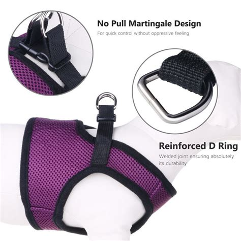velcro harness small harness petbaba soft ventilate mesh no pull harness