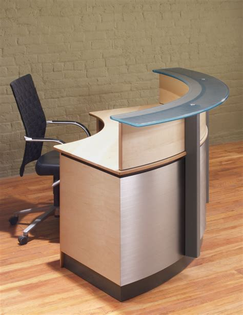 crescent modern reception desk stoneline designs
