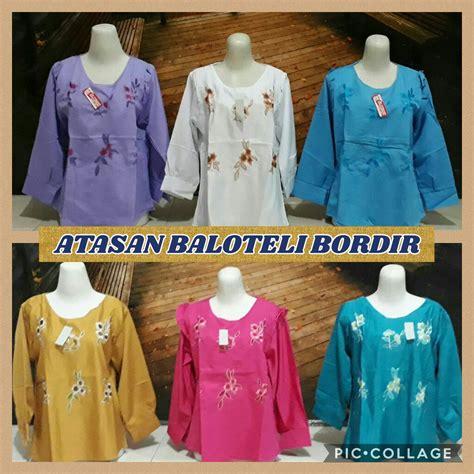 Pakaian Baju Atasan Wanita Cecilia Top Balotelly Busana Muslim distributor atasan balotelli bordir dewasa murah surabaya 32ribu