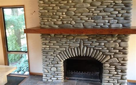 river stone fireplace fireplaces