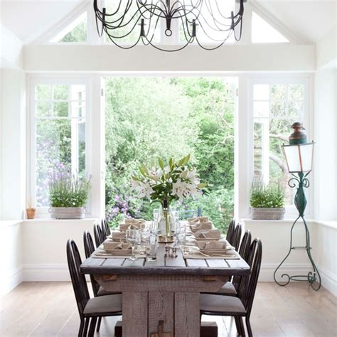 Country Dining Room Ideas Uk Light Filled Dining Room Country Farm Lodge House