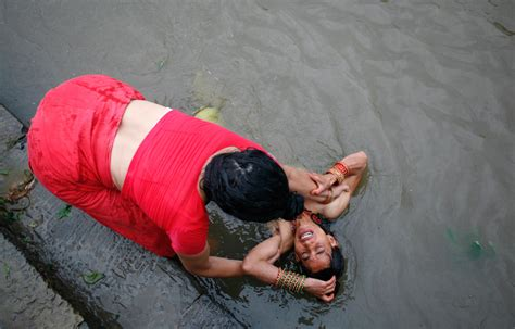 indian girl bathing in bathroom recent hindu festivals and rituals photos the big picture boston com