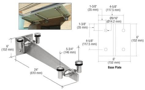 Glass Awning System by Crl Gab24bs Universal Wall Mounted Glass Awning Bracket 24