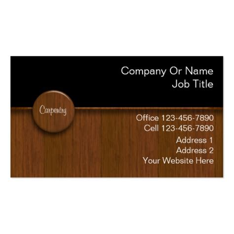 carpenter business card template carpenter business cards zazzle