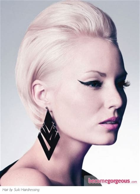 become gorgeous short hair gallery pictures pictures short hairstyles glam slicked back hair style