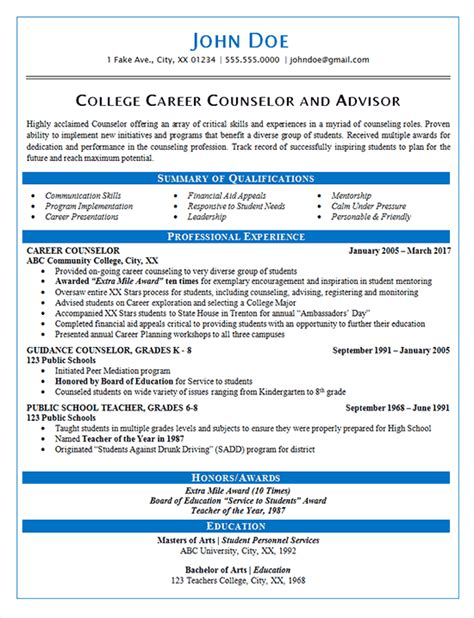 career counselor cover letter 17 investment advisor for financial aid college registered
