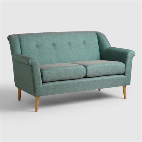 sofa loveseats teal kaira love seat world market