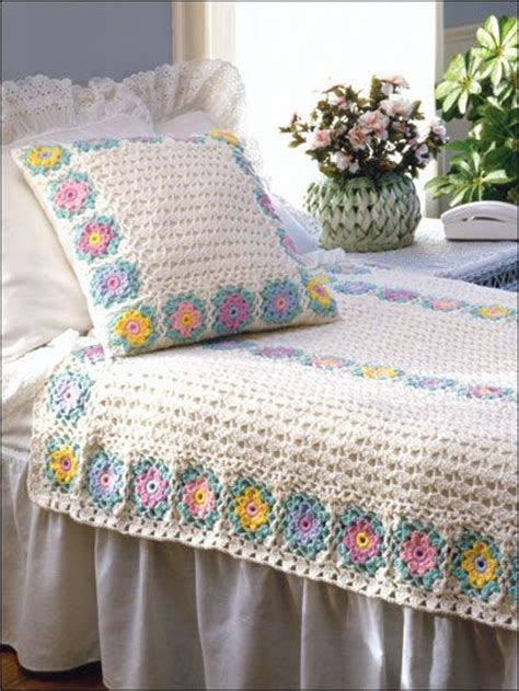 crochet coverlet pattern crochet afghan throw patterns bed afghans covers