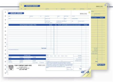 order tags work orders repair order forms estimates auto shop supply