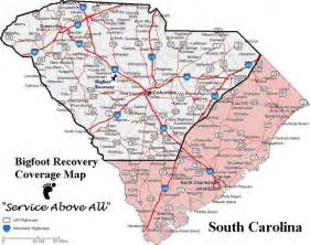 carolina zip code map free big foot recovery llc south carolina repossession services